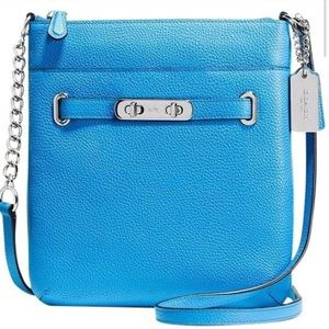 Coach Swingpack Swagger Blue Leather Crossbody